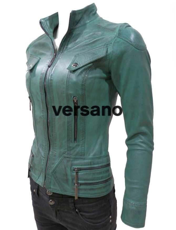 Zo'n groen leren jasje voor dames ziet er fris en trendy uit en is bij ons te krijgen in meerdere verschillende uitvoeringen. U kunt ervoor kiezen om de jas in een korte uitvoering te kopen, maar ook in een lange uitvoering.