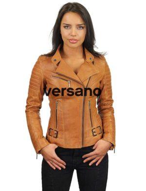 leren-bikerjack-dames-cognac-versano-311-model