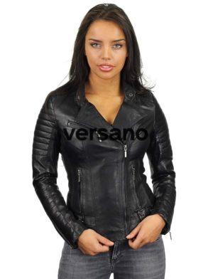 leren-bikerjack-dames-zwart-versano-311-model