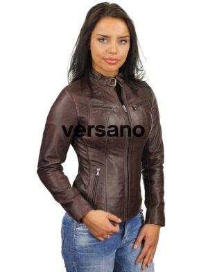 3986b6ca03 Veste femme en cuir marron, veste femme en cuir marron, Veste femme ...