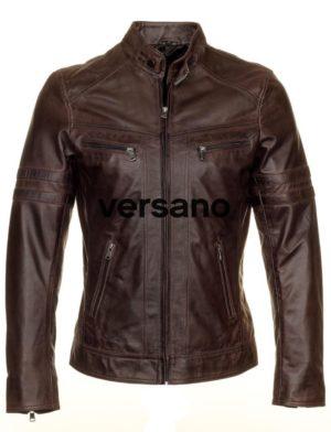 Leren jas heren Versano TR43 Bruin