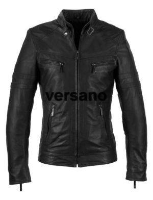 Leren jas heren Versano TR43 Zwart