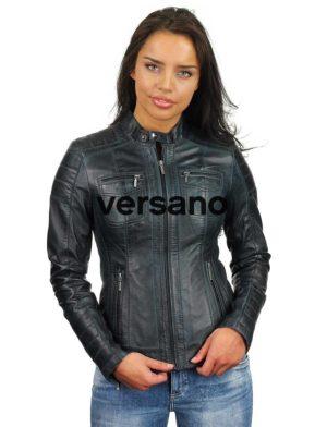 donkerblauwe-leren-jasje-dames-versano-318-model2