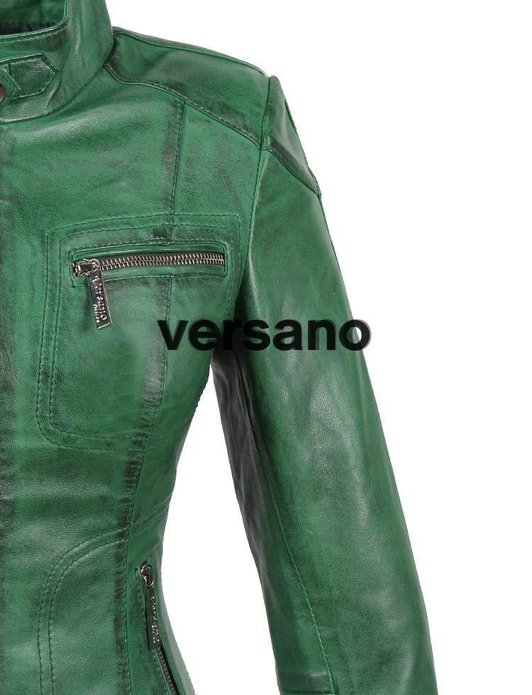 Groene Leren Jas Dames.Versano Leren Jas Dames Groen 317l Detail Leather Shop Doci