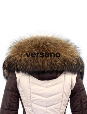 echte bontkraag naturel XXL Versano