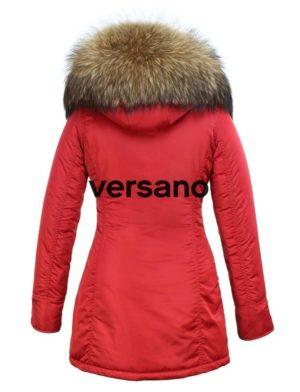 huge selection of f0ad3 29664 Versano Dames Winterjas Met Bontkraag Rani Rood