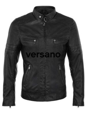 Imitatieleren jas heren Versano TRR 43 Zwart