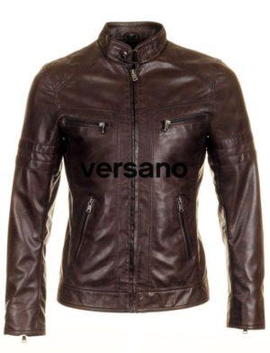 heren-zomerjas-jas-lederlook-bruin-versano-trr43-voorkant