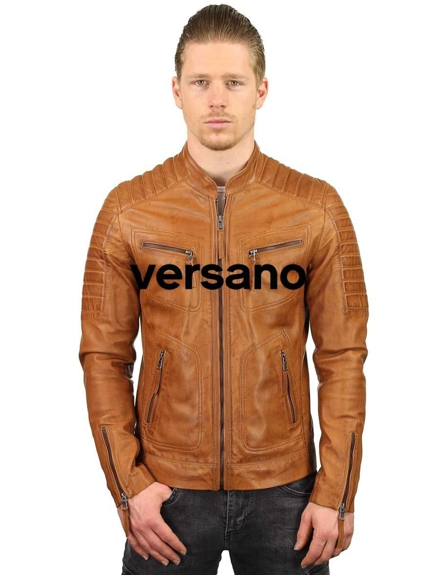 leren biker jack cognac Archives Leather Shop Doci
