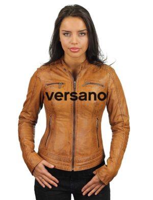 bikerjack-dames-cognac-leren-jas-versano-346-voorkant-gesloten-model