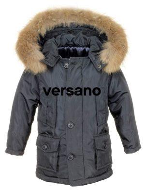 Jongens kinder Parka jas met bontkraag blauw Versano