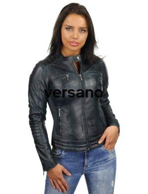 bikerjack-dames-blauw-leren-jas-versano-346-voorkant-dicht-model