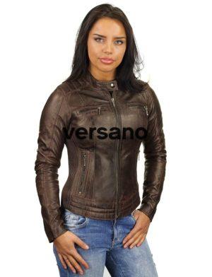 bikerjack-dames-bruin-leren-jas-versano-346-voorkant-dicht-model