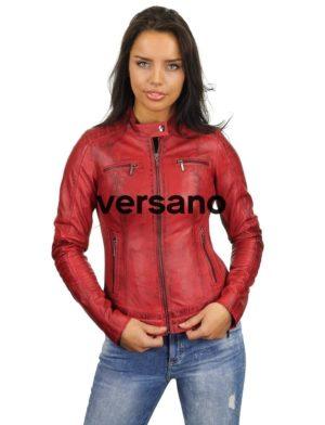 bikerjack-dames-rood-leren-jas-versano-346-voorkant-model2