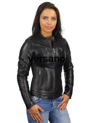 bikerjack-dames-zwart-leren-jas-versano-346-voorkant-model2