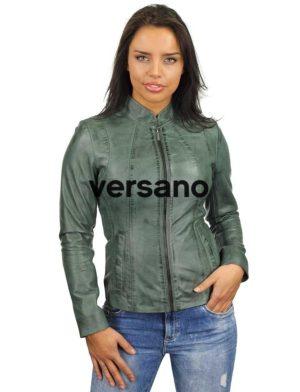 groen-leren-jasje-dames-versano-301-model2