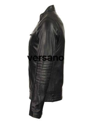 kunstleren heren bikerjack zwart Versano TRR 46