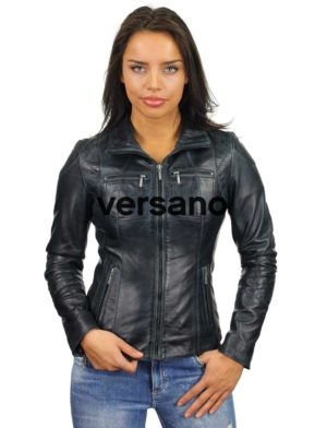 leren-jasje-dames-donkerblauw-versano-340-model2