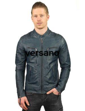 leren-jassen-heren-blauw-biker-model-TR36B-versano-model2