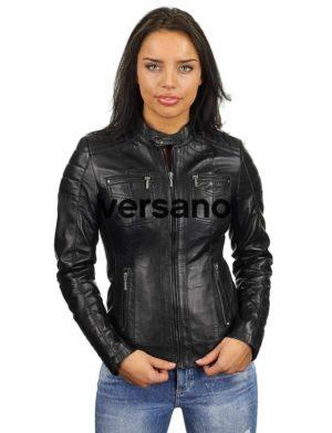 zwart-leren-jasje-dames-versano-318-model2