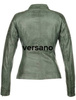 kommt an tolle Passform großer Rabatt leren jasje dames biker model groen Versano Miami