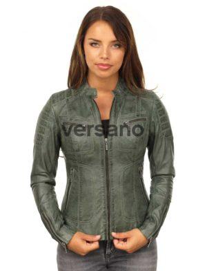 groene-leren-dames-jas-biker-model-versano-miami-model1