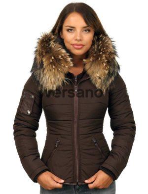 versano-dames-winterjas-met-bontkraag-shamila-bruin-model1