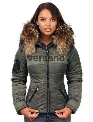 versano-dames-winterjas-met-bontkraag-shamila-groen-model1