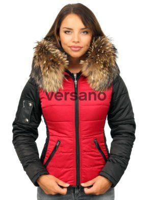 versano-dames-winterjas-met-bontkraag-shamila-rood-zwart-model1