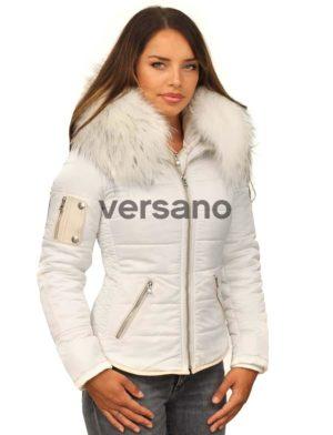 Cuello Blanca Invierno De Piel Chaqueta Versano Shamila Señoras Con ycX6naZqa