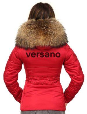 sports shoes 776b5 b7a8e Dames winterjas rood met rits Rita Versano