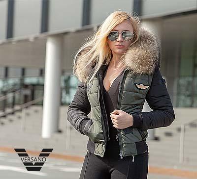 Uitgelezene dames-piloten-jack-met-bontkraag-versano - Leather Shop Doci GD-57