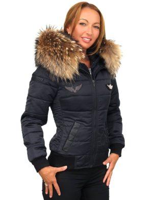 d6683766 ... invierno-cuello de piel-con-insignias-. mujer-pilotos-chaqueta ...