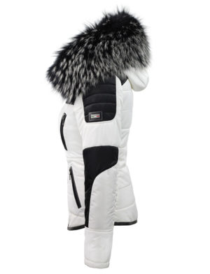 Zwart Witte Winterjas.Zwart Witte Dames Winterjas Met Bontkraag Sema Versano