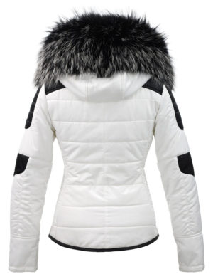 online qui seleziona per autentico acquista il più recente Black and white ladies winter coat with fur collar Sema Versano