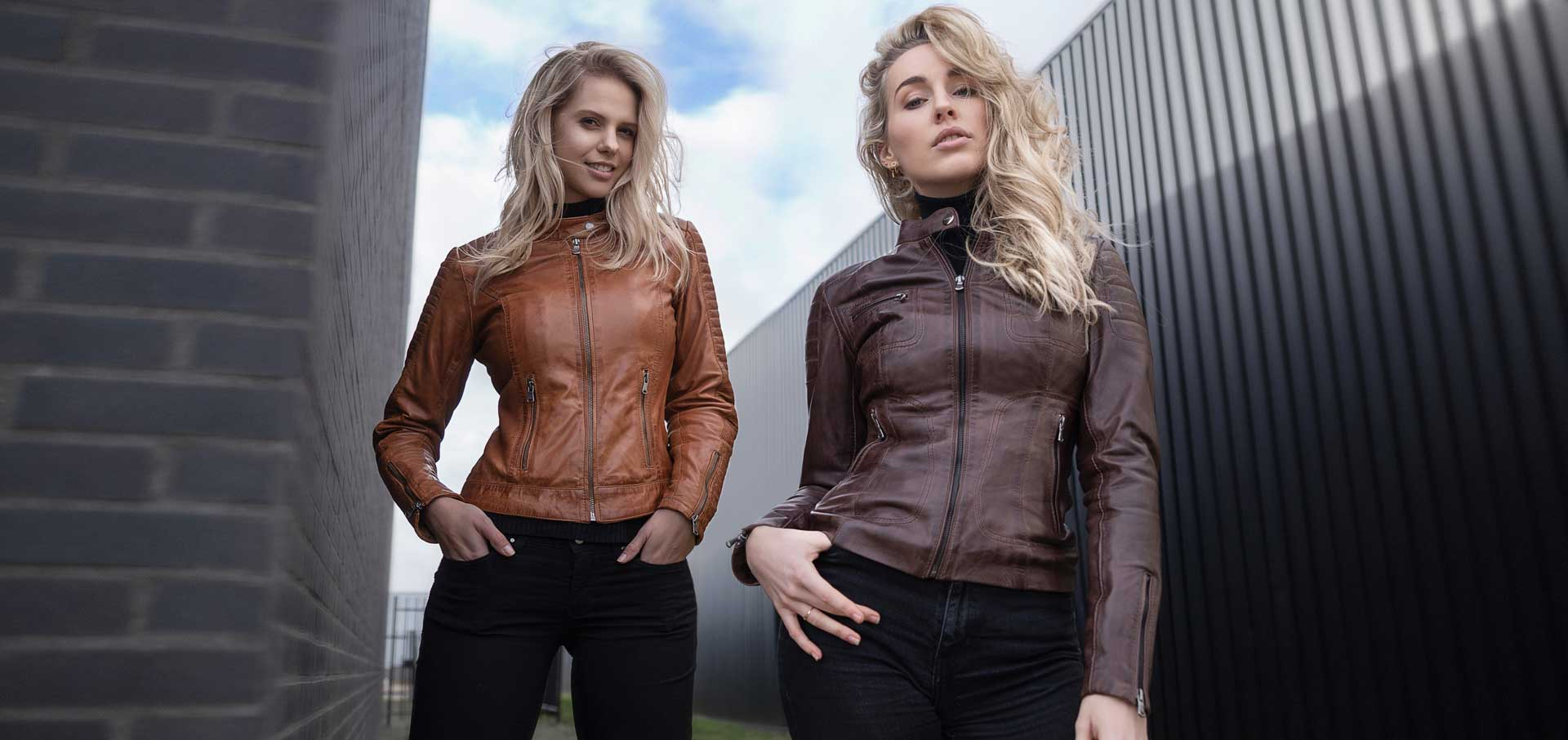 Leather Palace leren jas dames cognac